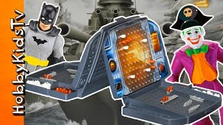 Battleship Pirate Battle Batman VS Joker! Imaginext Surprise Toys HobbyKidsTV