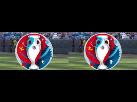 EURO 2016 in 3D Gameplay PES 2016 Full Side by Side YT3D