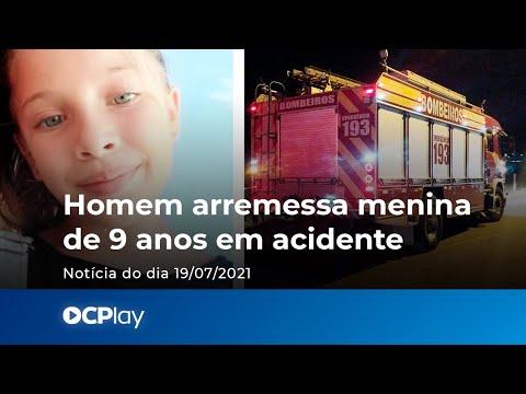 Homem arremessa menina de 9 anos em acidente
