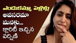 Anchor Varshini clarifies on her marriage rumours..
