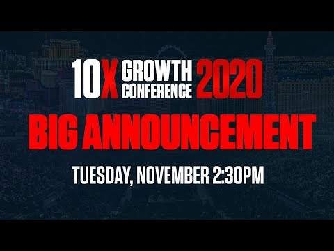 Huge Announcement for 10X Growthcon 2020 photo