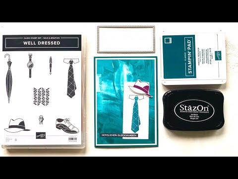 Sale-A-Bration 2020--Well Dressed--Männerkarte zum Geburtstag--DIY