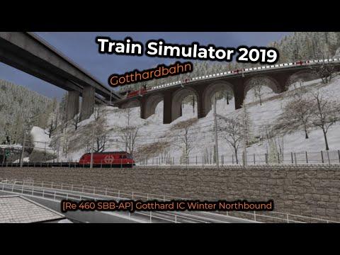 [Re 460 SBB-AP] Gotthard IC Winter Northbound -- Livestream 02/08/2019
