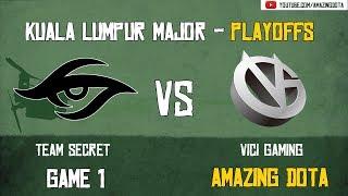[Highlights] Team Secret vs Vici Gaming | GAME 1 | The Kuala Lumpur Major | Playoffs - Upper Bracket