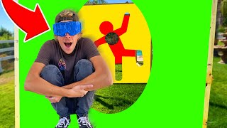 Jumping Blind through IMPOSSIBLE Shapes! - Challenge