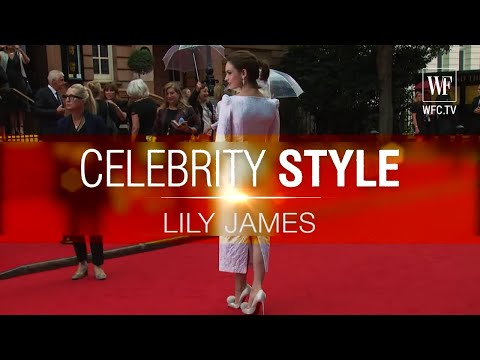 Lily James | Сelebrity style_