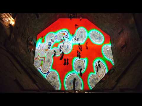 Miguel CHEVALIER Magic Carpets 2014 Castel del Monte, Italy (Short version)