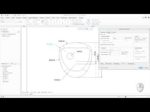 Mostrar Dimensiones en Creo Parametric - Truco para despliegue de Radios