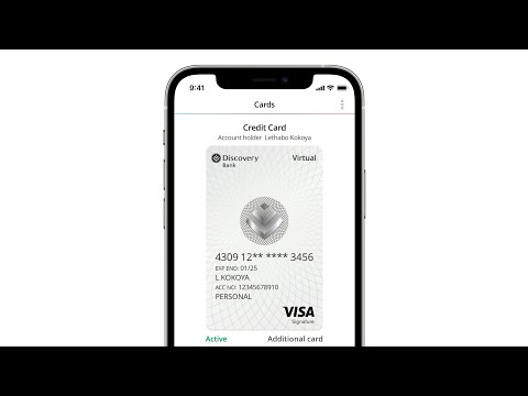 How to set up your Discovery Bank virtual card - iOS