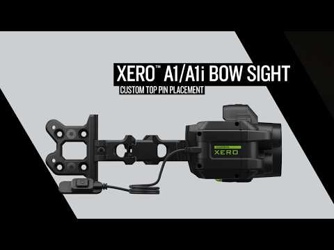 Xero™ A1/A1i Bow Sight: Custom Top Pin Placement