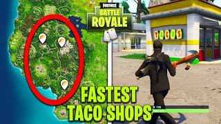 """EASIEST WAY TO """"Visit different Taco Shops"""" IN A SINGLE MATCH! - WEEK 9 CHALLENGES in FORTNITE!"""