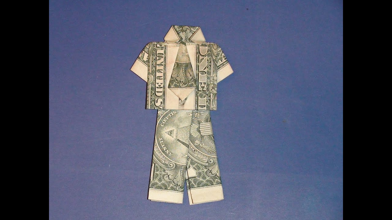 Origami Pants From A Dollar Bill