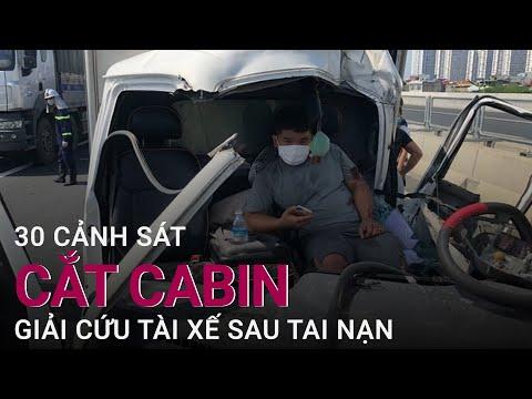 30 cảnh sát cắt cabin biến dạng giải cứu tài xế mắc kẹt sau tai nạn ở Hà Nội | VTC Now
