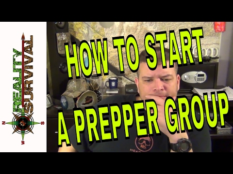 How To Start A Prepper Group