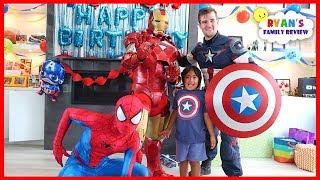 Ryan's SuperHero Birthday Training with Marvel Avengers!!!!
