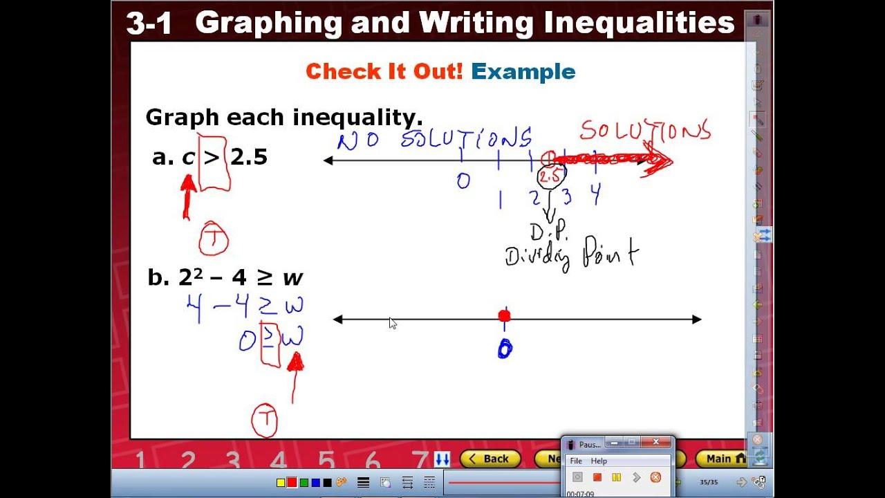 mr q's writing and graphing inequalities part b  youtube