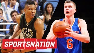 Kristaps Porzingis or Giannis Antetokounmpo: Who's scarier to face? | SportsNation | ESPN