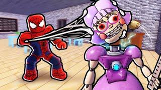 SPIDERMAN vs. MISS ANI-TRON... (Roblox)