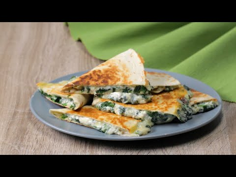 How To Make Cheesy Spinach And Artichoke Quesadillas ?Tasty Recipes