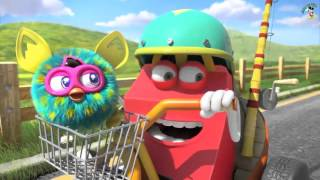 McDonalds HAPPY MEAL Hot Wheels and Furby Commercial AD 2015 FURBWHEELS