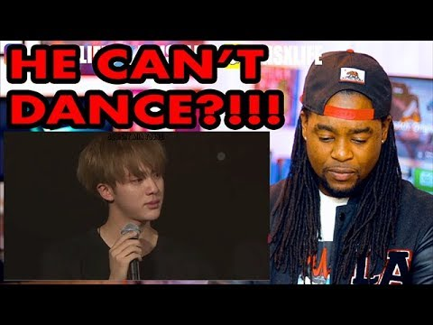 An Introduction to BTS: Jin Version   He Can't Dance?!   REACTION!!!