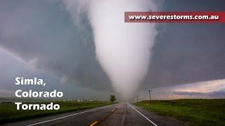 Tornado Close Encounter - Simla, Colorado - 04 June, 2015