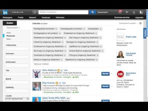 LinkedIn Tip 4 Gebied Branche