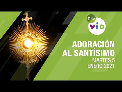 Adoración al Santísimo 🙏 Martes 5 Enero de 2021, Padre Luis Eduardo Gómez – Tele VID