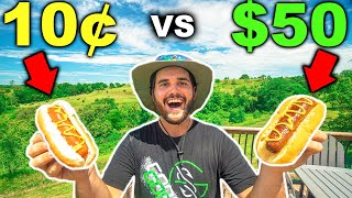 Cheap VS Expensive RARE HOTDOG Cooking Glizzy CHALLENGE!!! (100% Wagyu Beef)