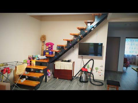 Супер бюджетный, красивый и простой интерьер дома 70м2 с Чугунной печью! СВОИМИ РУКАМИ
