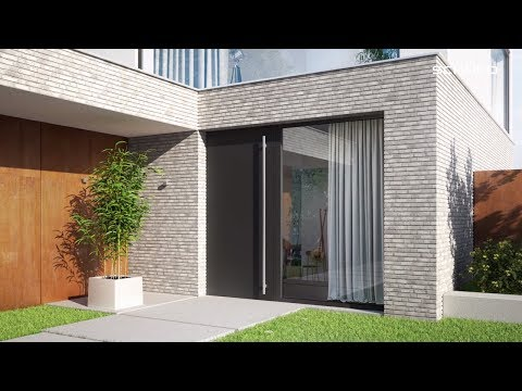 Schüco aluminium entrance doors