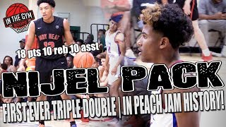 Nijel Pack Gets 1st Ever Recorded Triple Double in PEACH JAM HISTORY vs Jalen Green and Team Why Not