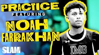 Noah Farrakhan was HOLLERIN' Mic'd Up at IMG 🗣 | SLAM Practice