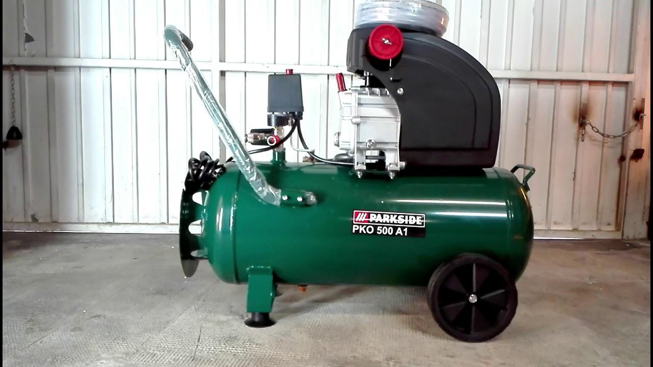 Parkside Compressor Pko 500 A2 270 A4 Unboxing Video