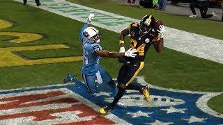 Antonio Brown INSANE One-Handed Helmet Catch! | Titans vs. Steelers | NFL