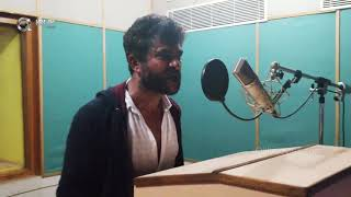Actor Chandrashekar Dubbing In Diksoochi Dubbing Studio