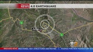 Magnitude-4.0 Earthquake Hits Julian