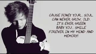 Ed Sheeran - Thinking Out Loud Lyrics With Music - YouTube