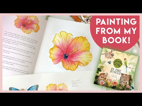 How To Paint a Hibiscus Flower from Watercolor With Me: In The Jungle