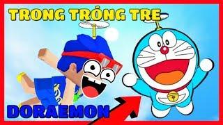 Mini World: PHONG CẬN chế tạo thành công chong chóng tre của Doraemon | Thử thách bay lên mặt trăng