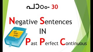 Spoken English in Malayalam - Past Perfect Continuous (Negative Sentences)
