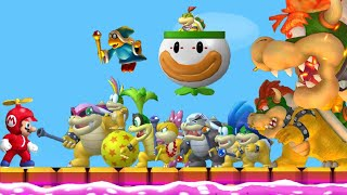 New Super Mario Bros. Wii - All Bosses (All Tower, Castle & Airship Bosses) + Final Boss/Ending