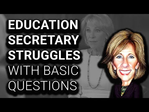 CRINGE: Betsy DeVos FACEPLANTS During MULTIPLE Interviews