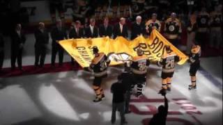Boston Bruins Banner Raising - 2011 Stanley Cup Champions