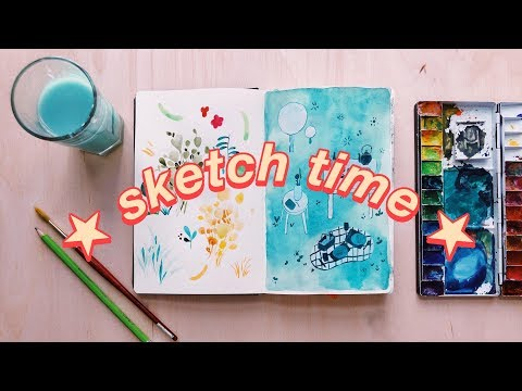 DRAW WITH ME (no music) | 45 min real time sketching session!