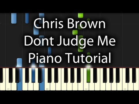 Baixar Chris Brown - Dont Judge Me Tutorial (How To Play On Piano)