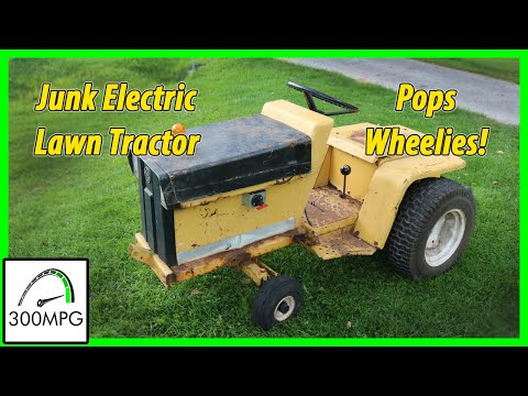 Nissan Leaf Powered Rat Rod Electric Lawn Tractor