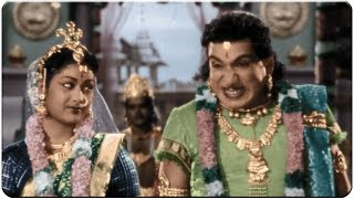 Relangi Afraid of Savitri Behaviour at Marriage Hilarious Comedy Scene || Mayabazar Movie