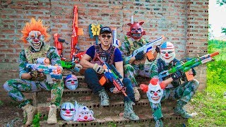 NERF WAR : Dangerous Task SWAT Warriors Fight Combat Armed Crime Group Nerf Guns