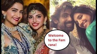 Sonam Kapoor welcomes Rana Daggubati to the family, know h..